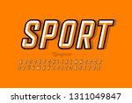 retro style font design ... | Shutterstock .eps vector #1311049847