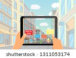 augmented reality marketing... | Shutterstock .eps vector #1311053174