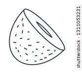 coconut concept line icon....