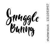 snuggle bunny   easter hand... | Shutterstock .eps vector #1311053957