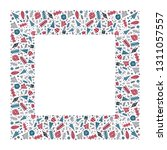 square holiday christmas...   Shutterstock .eps vector #1311057557