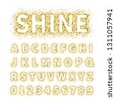 uppercase regular display font... | Shutterstock .eps vector #1311057941
