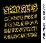 uppercase regular display font...   Shutterstock .eps vector #1311057944