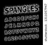 uppercase regular display font...   Shutterstock .eps vector #1311057947