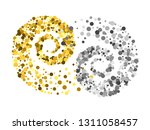 gold and silver glitter...   Shutterstock .eps vector #1311058457