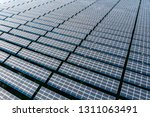 the solar panels on the lawn | Shutterstock . vector #1311063491