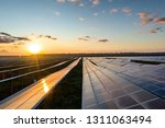 the solar panels on the lawn | Shutterstock . vector #1311063494