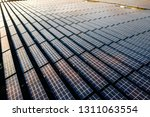 the solar panels on the lawn | Shutterstock . vector #1311063554