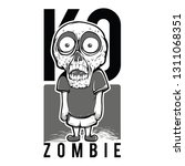 ko zombie kid black and white...