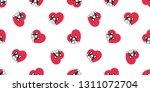 dog seamless pattern french... | Shutterstock .eps vector #1311072704