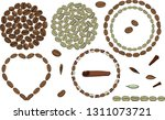 roasted and green coffee bean...   Shutterstock .eps vector #1311073721