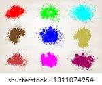 set of paint splashes design ... | Shutterstock .eps vector #1311074954