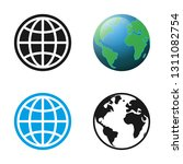 planet icons set. vector... | Shutterstock .eps vector #1311082754