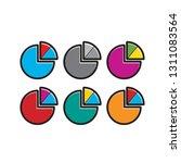 pie chart color variations... | Shutterstock .eps vector #1311083564