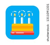 flat color icon cake birthday...