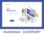 modern flat isometric... | Shutterstock .eps vector #1311091697
