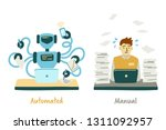 oncept of automated and manual ... | Shutterstock .eps vector #1311092957