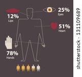 people's info graphics. | Shutterstock .eps vector #131109689