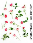 floral pattern made of red... | Shutterstock . vector #1311098024