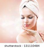 spa girl. beautiful young woman ... | Shutterstock . vector #131110484