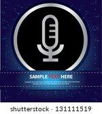 microphone sign vector   Shutterstock .eps vector #131111519