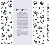 a bottle of olive oil on a... | Shutterstock .eps vector #1311117011