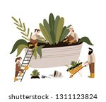 vector illustration of boots ... | Shutterstock .eps vector #1311123824