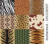seamless animal skin patterns... | Shutterstock .eps vector #1311130337