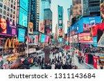 new york  usa   january 14 2019 ...   Shutterstock . vector #1311143684