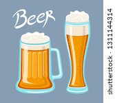 vector image of mugs of beer... | Shutterstock .eps vector #1311144314