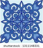 blue portuguese tiles pattern   ...   Shutterstock .eps vector #1311148331