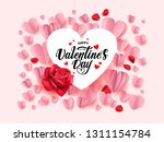 happy valentines day greeting... | Shutterstock .eps vector #1311154784