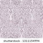 baroque texture pattern vector. ... | Shutterstock .eps vector #1311154994