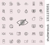 off eye icon. virus antivirus... | Shutterstock . vector #1311155051