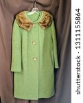 vintage coat with genuine mink... | Shutterstock . vector #1311155864