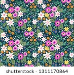 trendy seamless vector floral... | Shutterstock .eps vector #1311170864