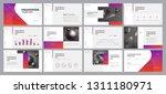 business presentation design... | Shutterstock .eps vector #1311180971