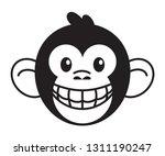smiling monkey head showing... | Shutterstock .eps vector #1311190247