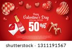 happy valentines day romance... | Shutterstock .eps vector #1311191567