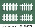 wooden fence in white color.... | Shutterstock .eps vector #1311204374