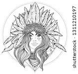 tribal fusion boho diva. black... | Shutterstock .eps vector #1311210197