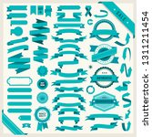 flat vector ribbons banners... | Shutterstock .eps vector #1311211454