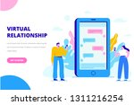 virtual relationship vector... | Shutterstock .eps vector #1311216254