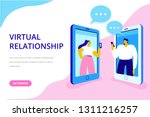 virtual relationship vector... | Shutterstock .eps vector #1311216257