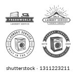 set of vintage laundry ... | Shutterstock . vector #1311223211