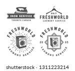 set of vintage laundry ... | Shutterstock . vector #1311223214