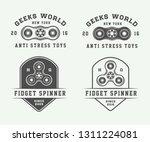 set of vintage fidget spinners...   Shutterstock . vector #1311224081