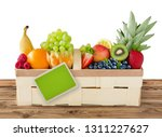selection of fruits and basket... | Shutterstock . vector #1311227627