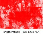 grunge red white color art... | Shutterstock . vector #1311231764
