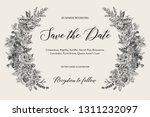 wedding invitation. summer... | Shutterstock .eps vector #1311232097